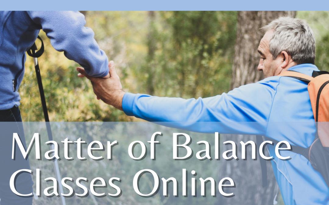 Matter of Balance Classes Online